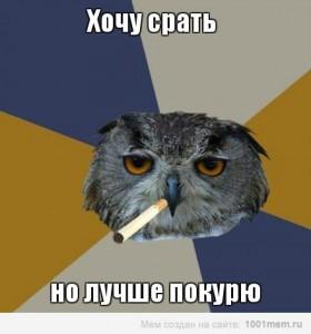 Хочу срати, але краще покурю