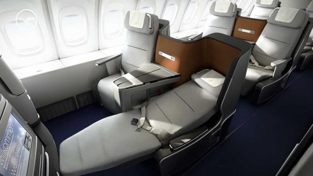 Business Class на борту A330 а/к Lufthansa